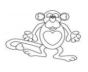 singe rigolo dessin à colorier