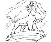 simba le roi lion dessin à colorier