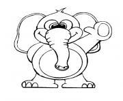 elephant bleu dessin à colorier