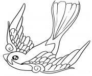 oiseau de paradis dessin à colorier