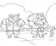 Coloriage zootopie une equipe de choc police dessin