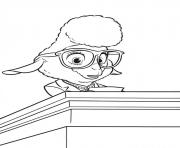 Coloriage zootopie madame bellwether