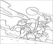 Coloriage tortue ninja 235