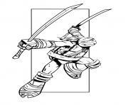 tortue ninja 23 dessin à colorier