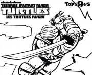 tortue ninja vec logo dessin à colorier