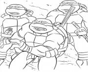 Coloriage tortue ninja 83