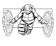 Coloriage tortue ninja team logo dessin