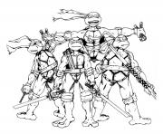 Coloriage tortue ninja 15