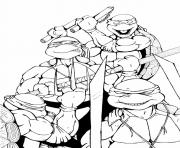 Coloriage tortue ninja 186