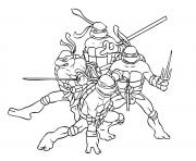 Coloriage tortue ninja 2