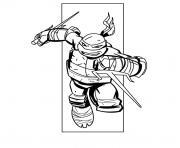 tortues ninjas raphael dessin à colorier