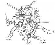 tortue ninja 6 dessin à colorier