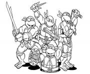 Coloriage tortue ninja 63