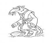 tortue ninja 73 dessin à colorier