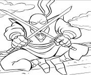 Coloriage tortue ninja 38