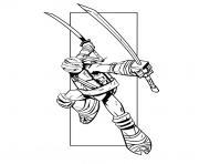 Coloriage tortue ninja 234 dessin