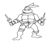 Coloriage tortue ninja 4 dessin