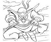 tortue ninja ennemi dessin à colorier