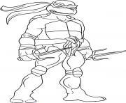 tortue ninja 85 dessin à colorier