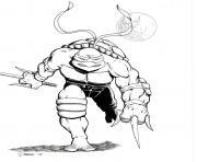 tortue ninja 118 dessin à colorier