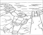 tortue ninja 184 dessin à colorier