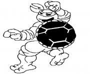 Coloriage tortue ninja 73 dessin
