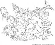 Coloriage tarzan 184 dessin
