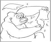 tarzan 84 dessin à colorier