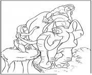 tarzan 95 dessin à colorier