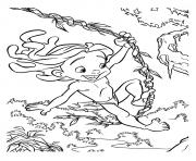 Coloriage tarzan 127 dessin