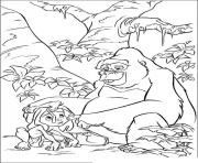 tarzan 133 dessin à colorier