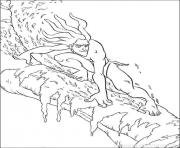 Coloriage tarzan 191 dessin