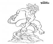 tarzan 143 dessin à colorier