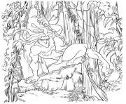 Coloriage tarzan 185 dessin