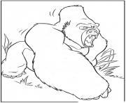 Coloriage tarzan a une liane jane dessin