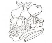 fruits et legumes d automne dessin à colorier