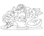 Coloriage fruits de l automne