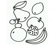 Coloriage farandole de fruits