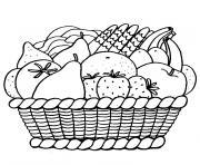Coloriage Panier De Fraises.Coloriage Fruits A Imprimer Dessin Sur Coloriage Info