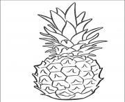 belle anana dessin à colorier