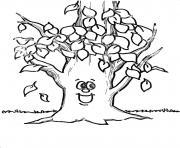 arbre 178 dessin à colorier
