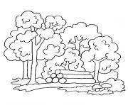 arbre d automne dessin à colorier
