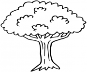 arbre 7 dessin à colorier