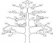arbre 94 dessin à colorier