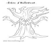 arbre 165 dessin à colorier