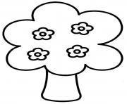 arbre 83 dessin à colorier