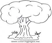 arbre 125 dessin à colorier