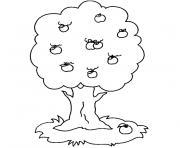 arbre 86 dessin à colorier