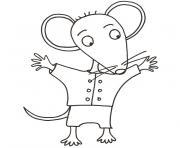 mimi la souris dessin à colorier