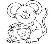 souris dessin à colorier